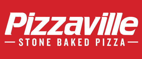 PV STONE BAKED PIZZA Logo white on red
